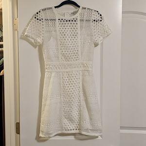 H&M Eyelet White Summer Dress